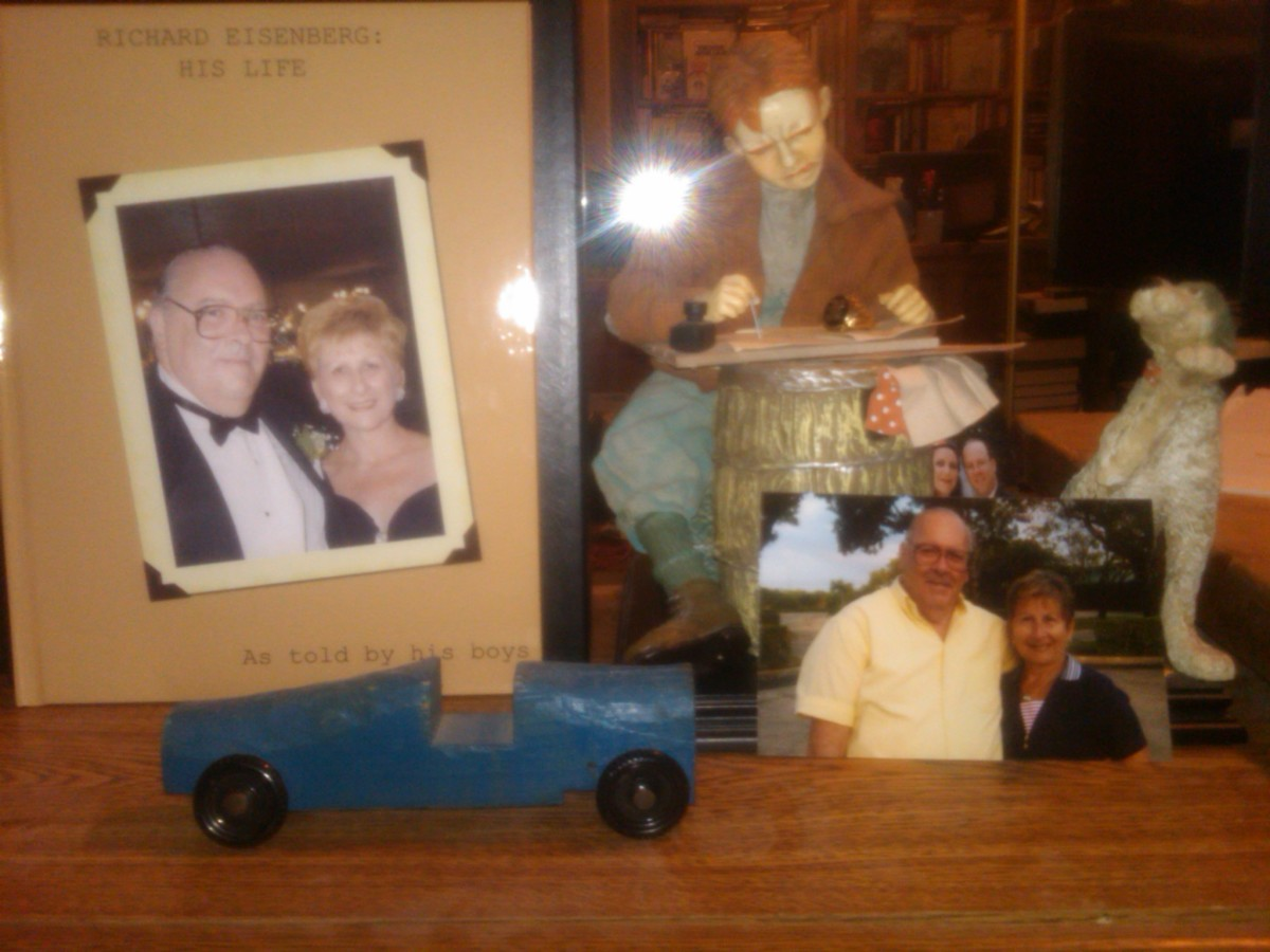 Tribute to my dad, on my home-office bookshelf.