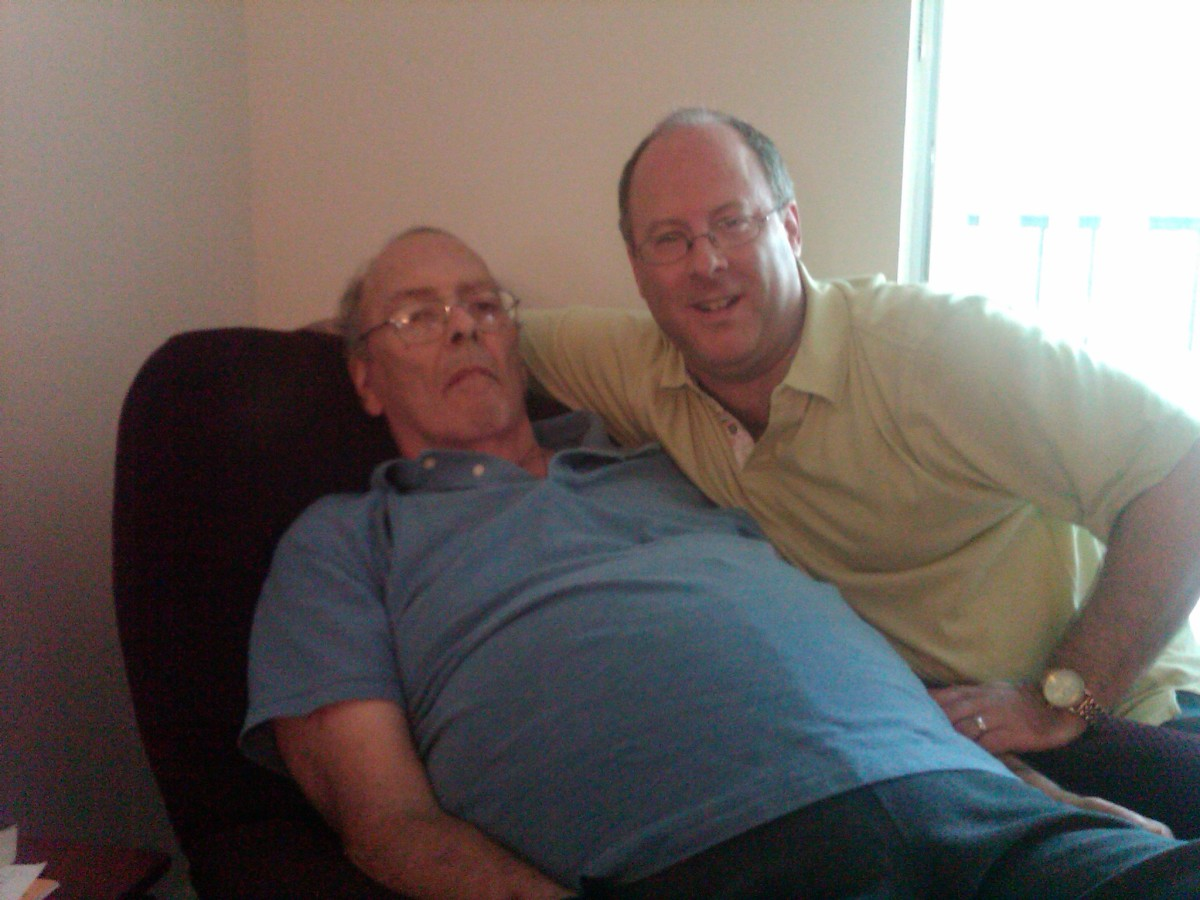 The final photo of my dad and me together. He passed away two weeks later.