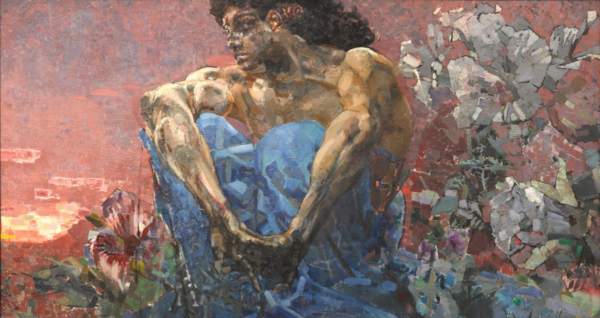 "Mikhail Vrubel's painting, ""The Demon Seated"" at The State Tretyakov Gallery, Moscow, Russia"