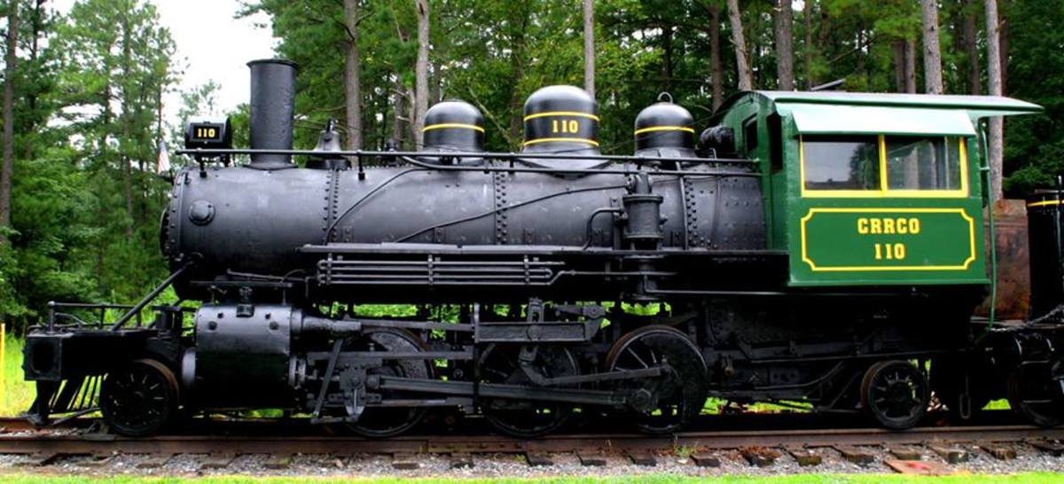 An antique steam locomotive