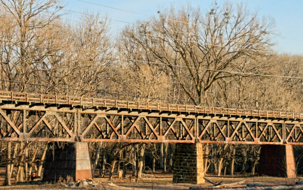 An 1850s railroad trestle