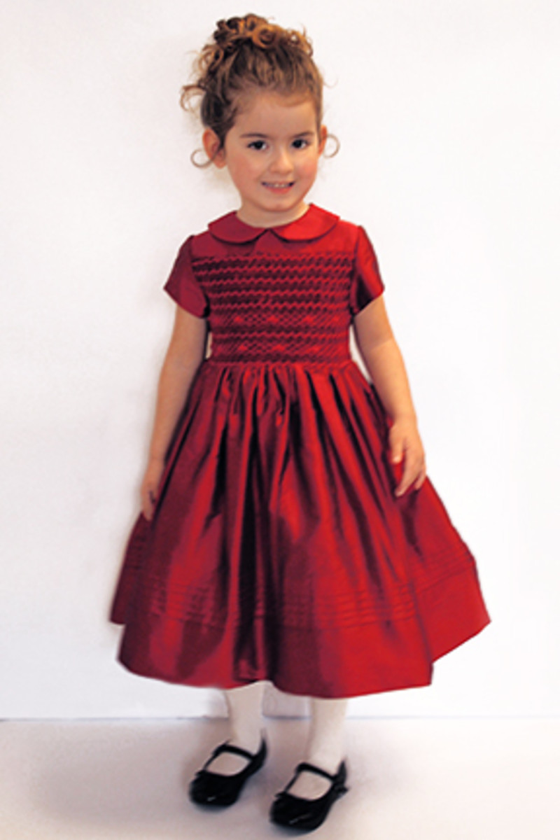 Little Isabella in red dress