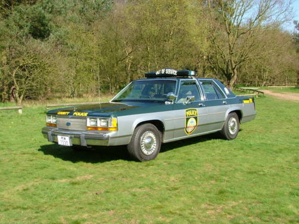 1990 Crown Victoria police car.
