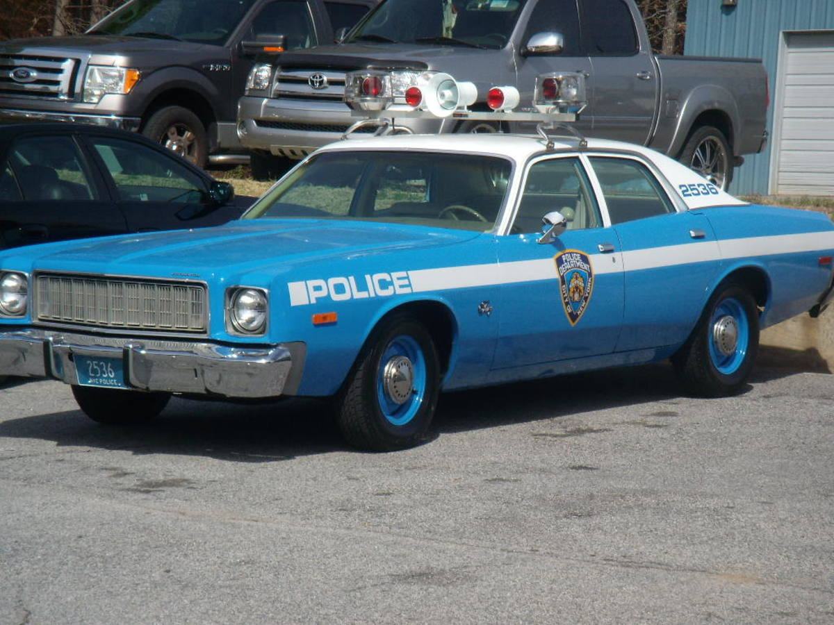 1975 Plymouth Fury police car.