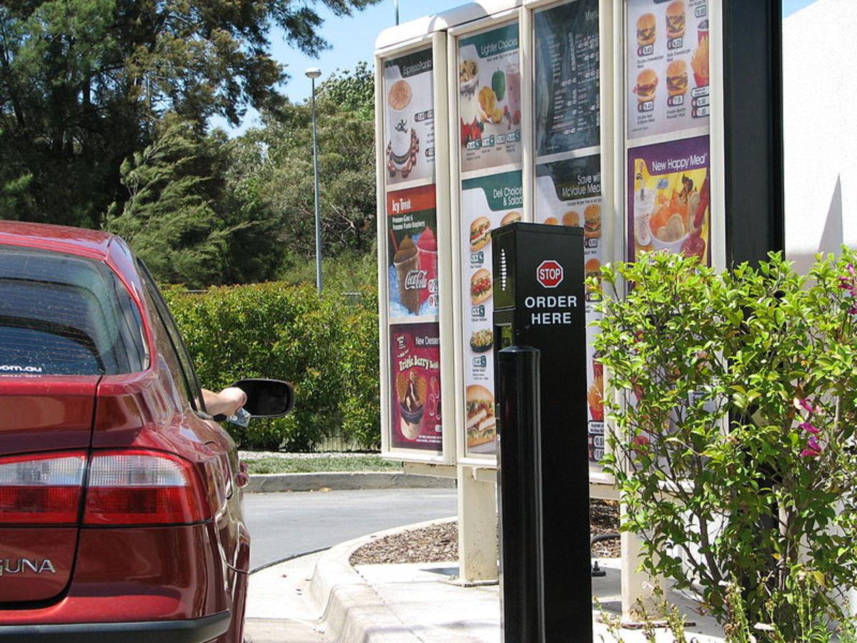 Australian diner using drive-through.