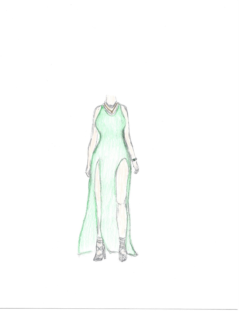 Illustration of Laita's dress by Shelly Lee