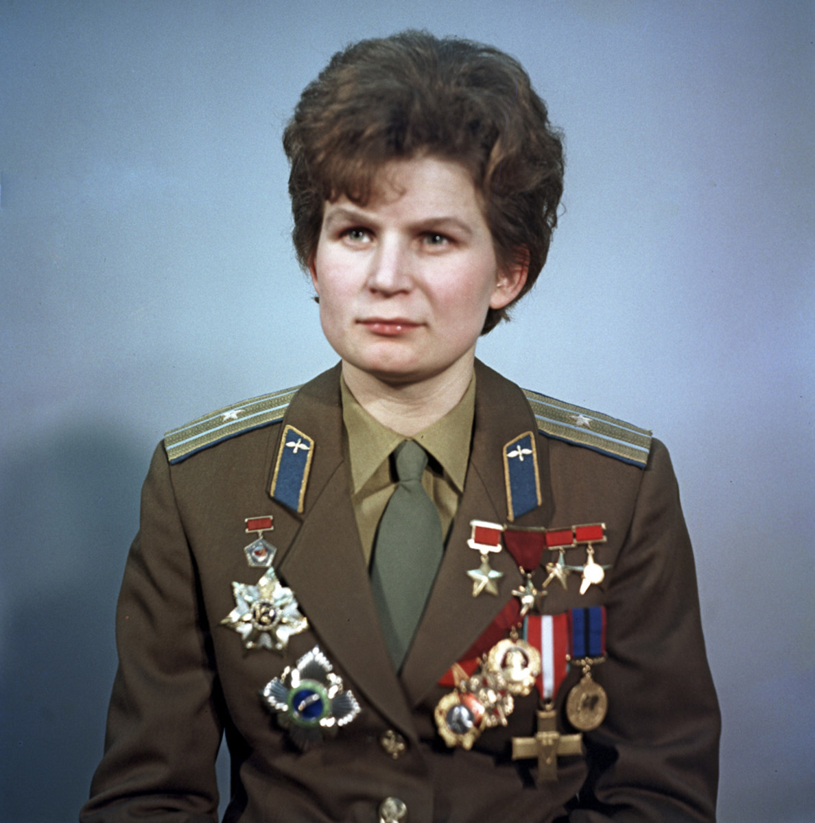 Major General Valentina Vladimirovna Tereshkova, 1969.  The first woman in space.