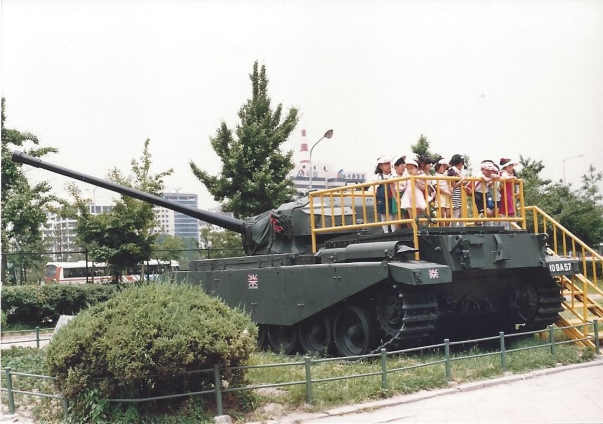 A British Centurion tank.
