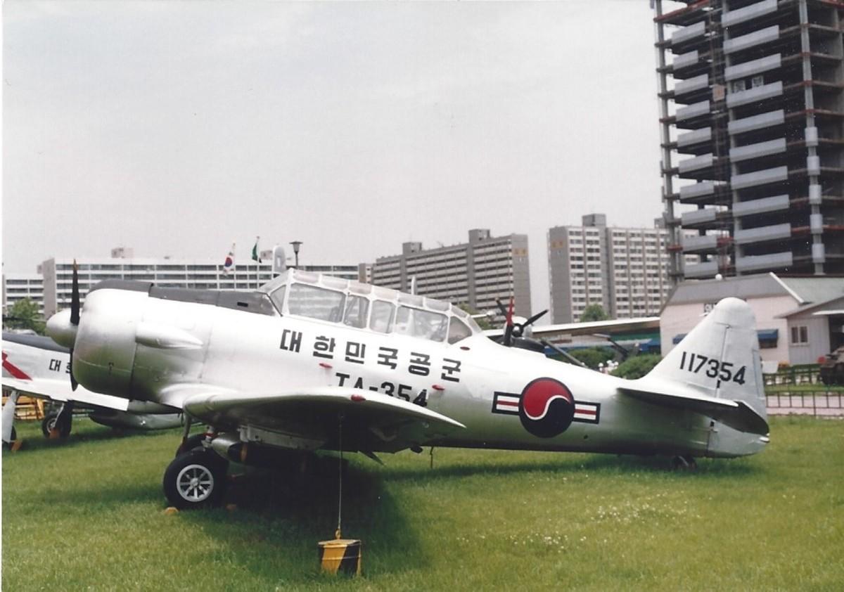 A T-6 Texan in ROKAF Markings.