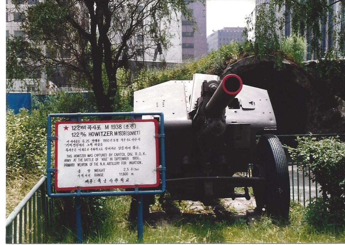 A Communist 122mm howitzer.