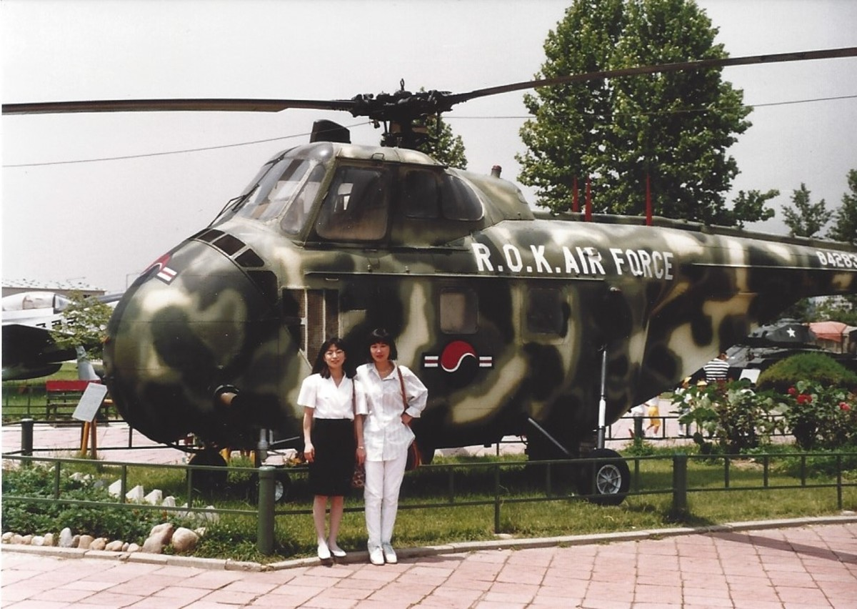 A Sikorsky H-19 Chickasaw in Republic of Korea markings.