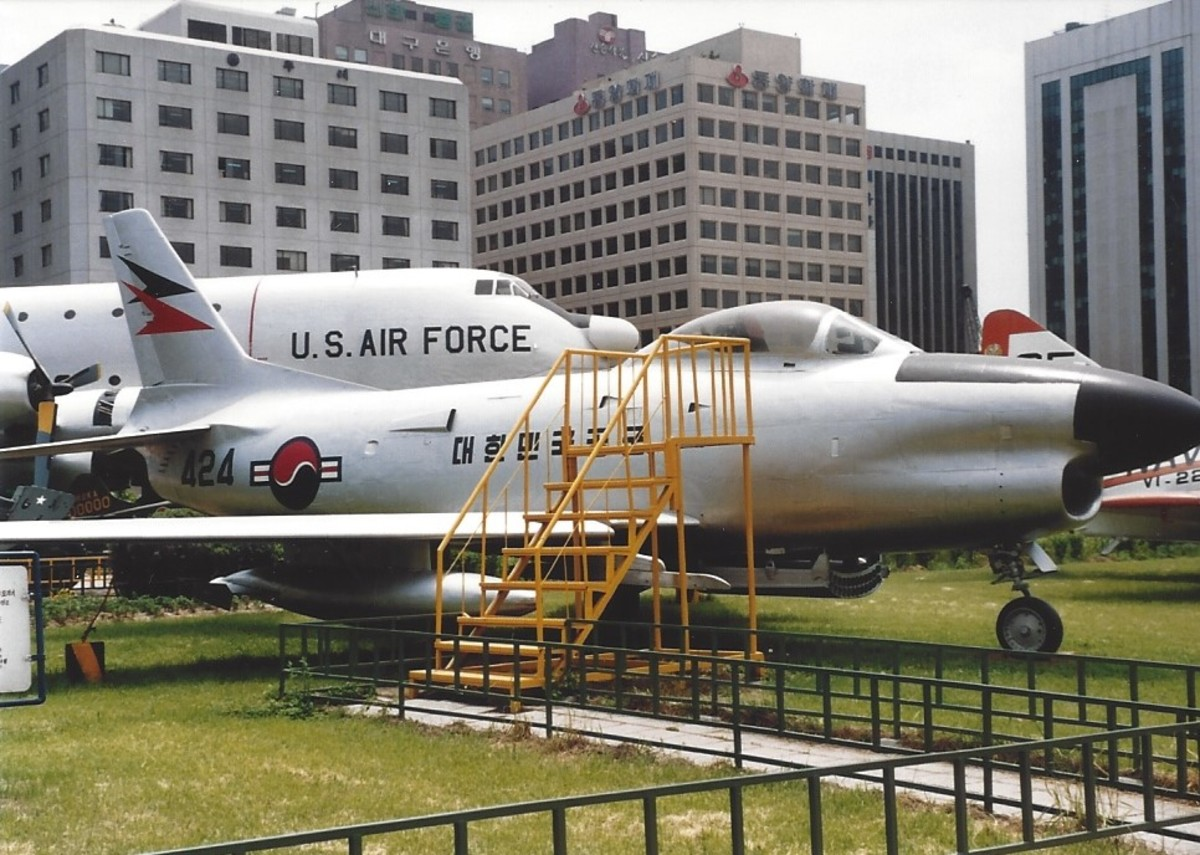 An F-86 in Republic of Korea Air Force markings.