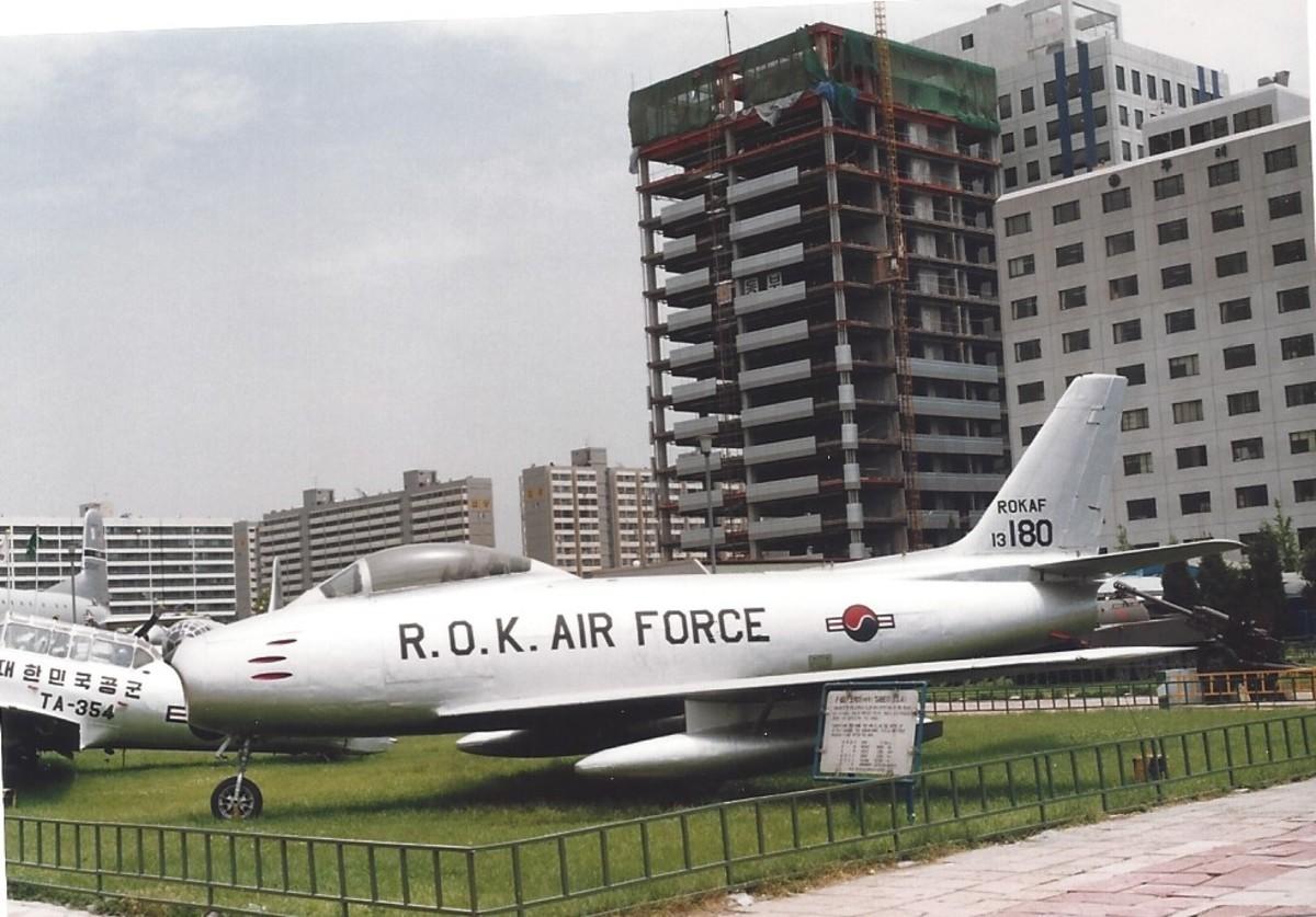 An F-86 in ROKAF markings.