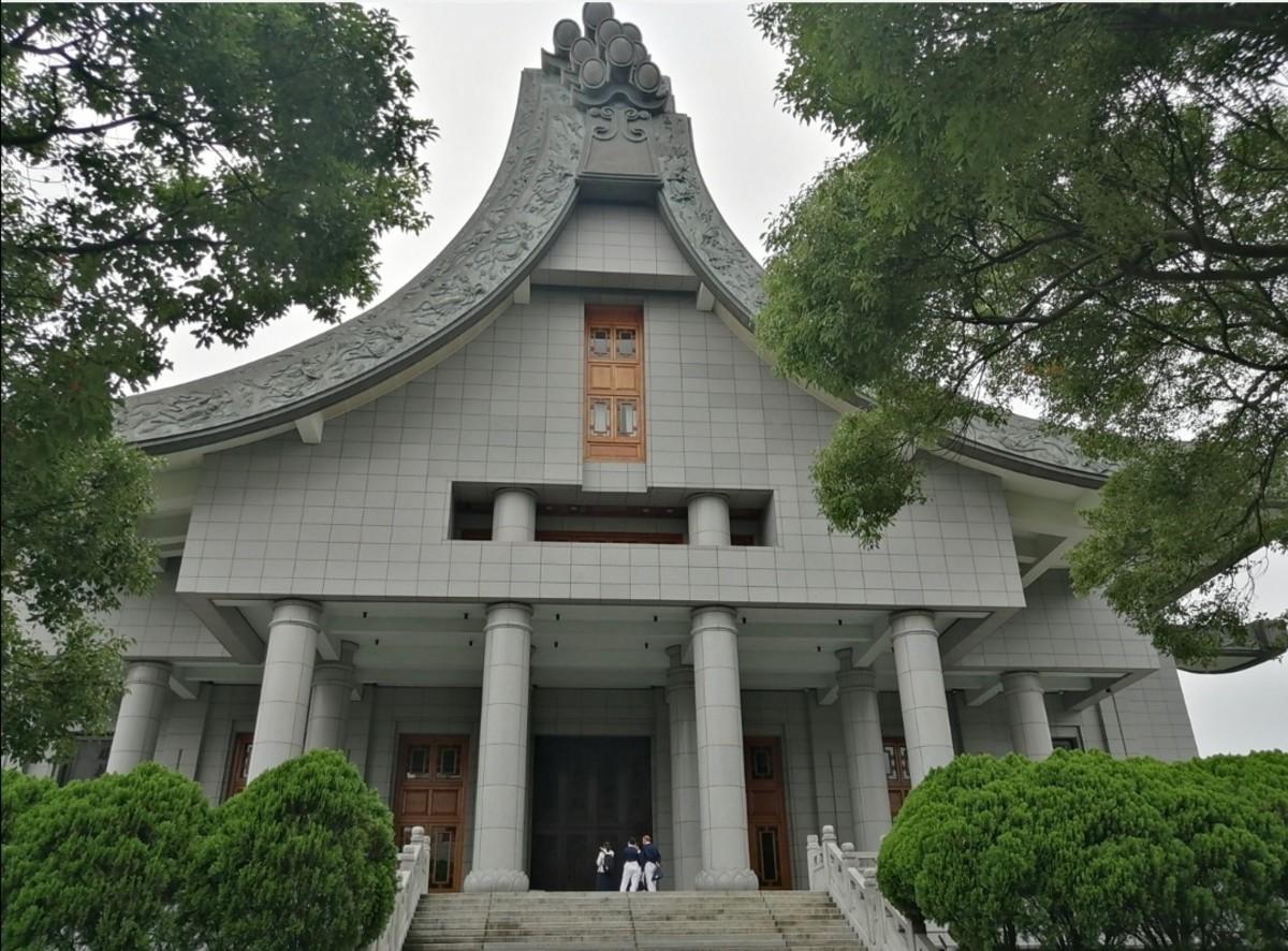 The imposing structure of Tzu Chi Jingsi building, Hualien,Taiwan.