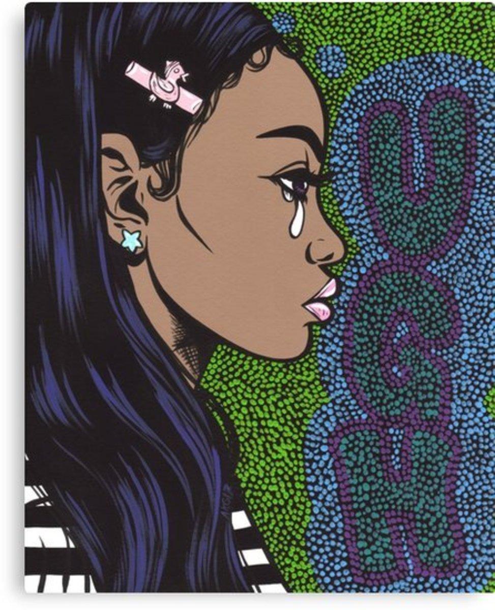"""UGH Pop Art Crying Girl"""