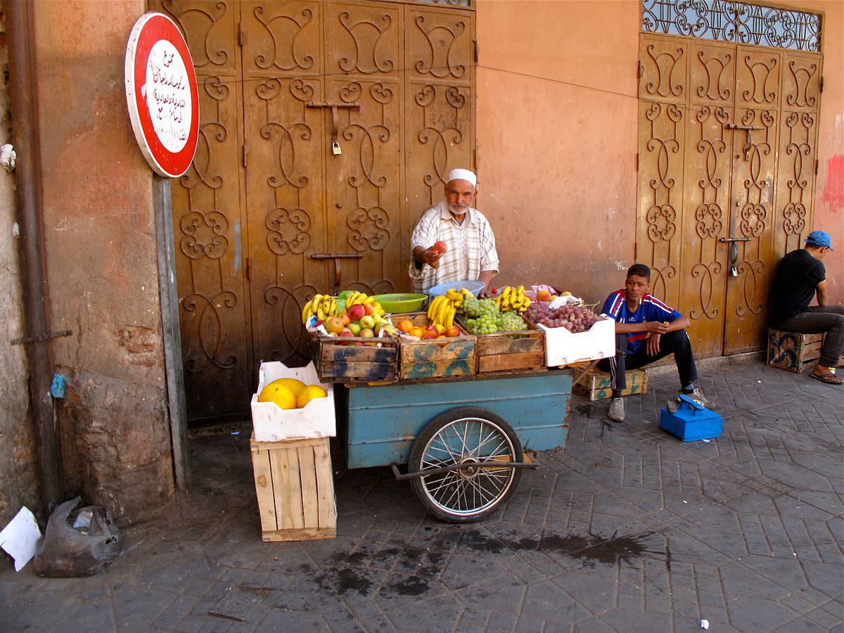 The Produce Peddler in Fez, Morocco.