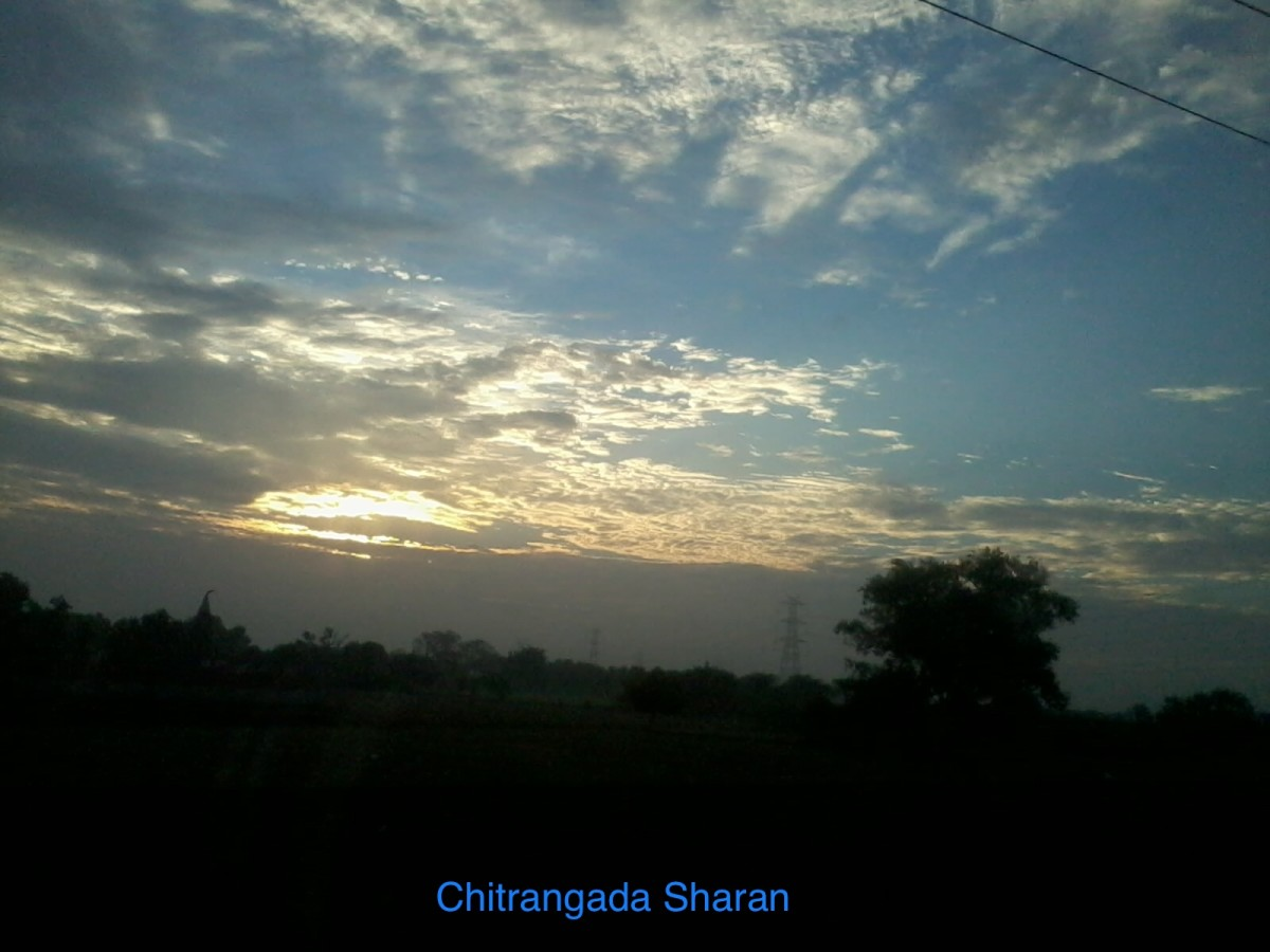 The sky during evening