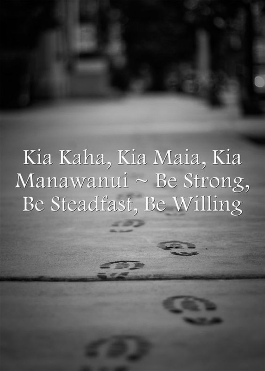 'Stand tall, Stand strong' (an old Maori saying)