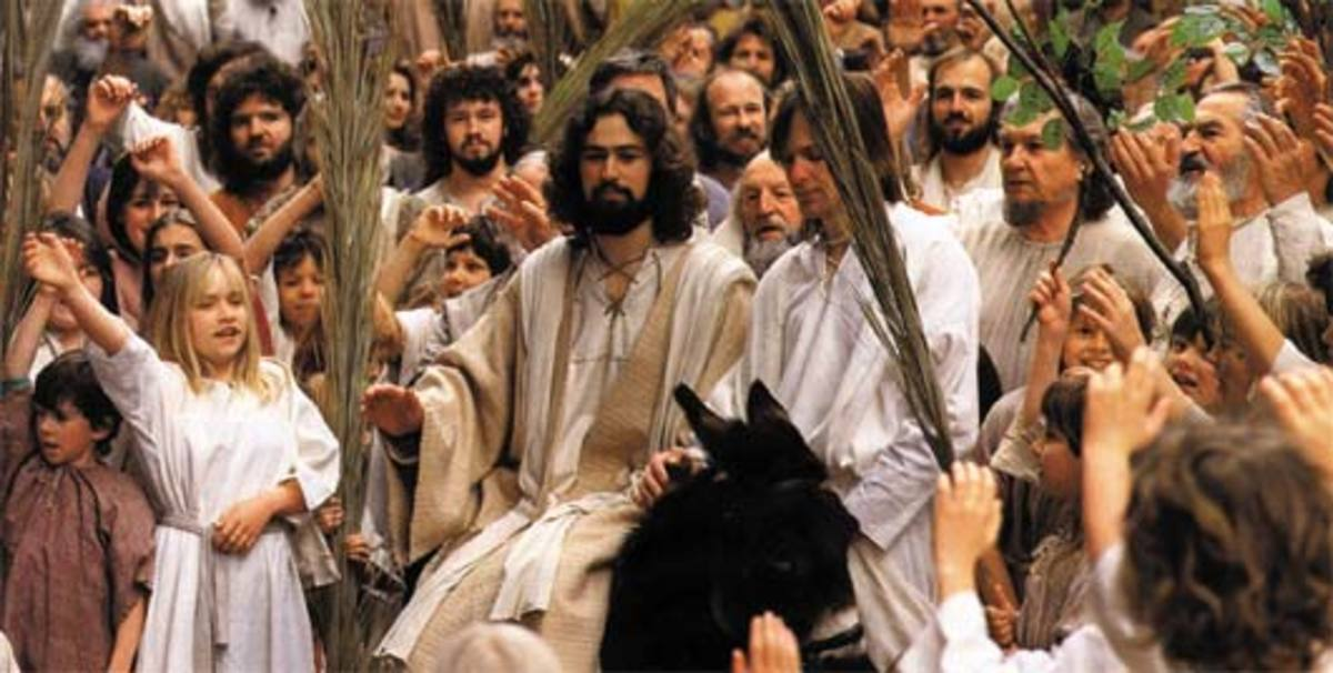 The crowds honored Jesus on Palm Sunday.