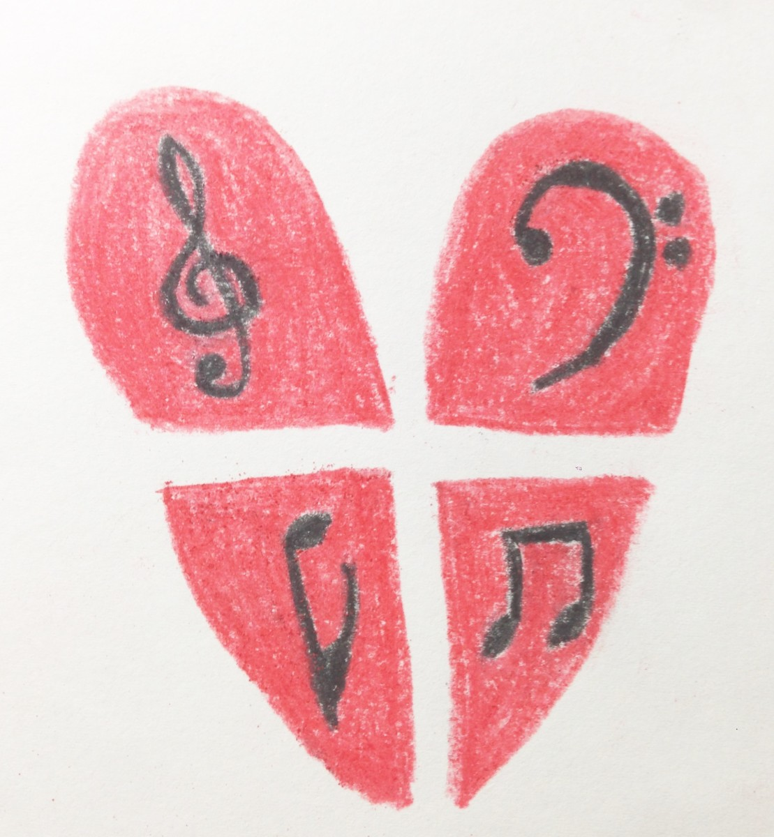 Melody Represented By Music Symbols