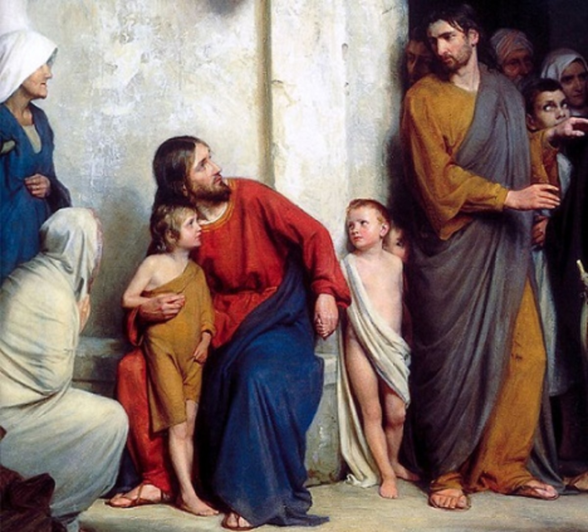 """Let the Children Come."" (Painting by Carl Bloch)"