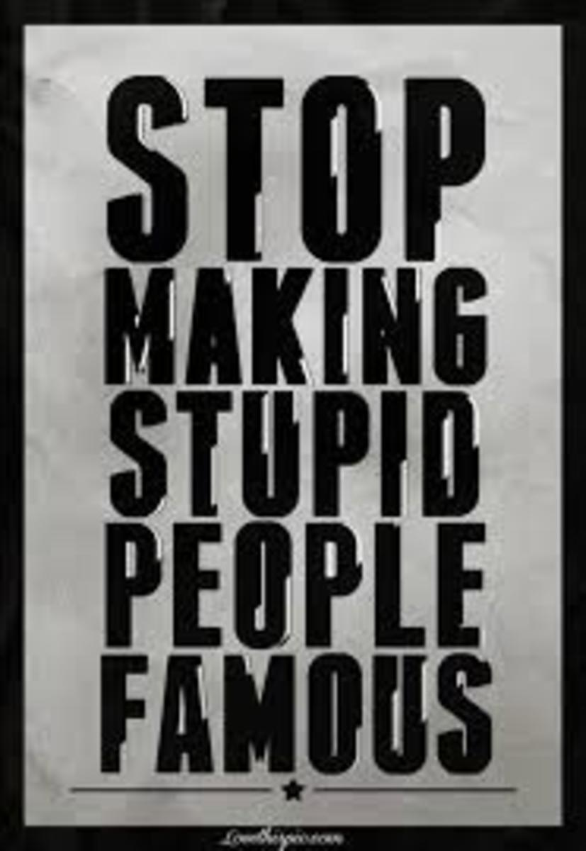A good place to start would be to stop being stupid people ourselves