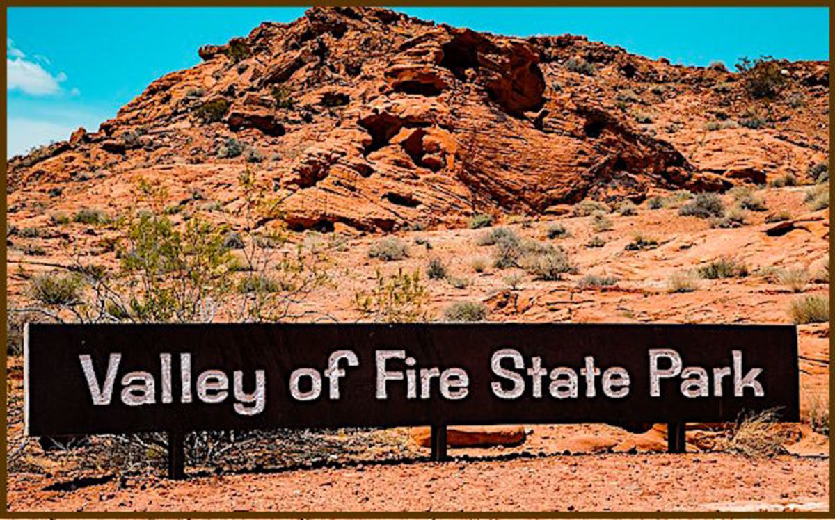 The vast Valley of Fire State Park is located in a remote part of southeastern Nevada.  UFO sightings have been reported in the desoslate area.