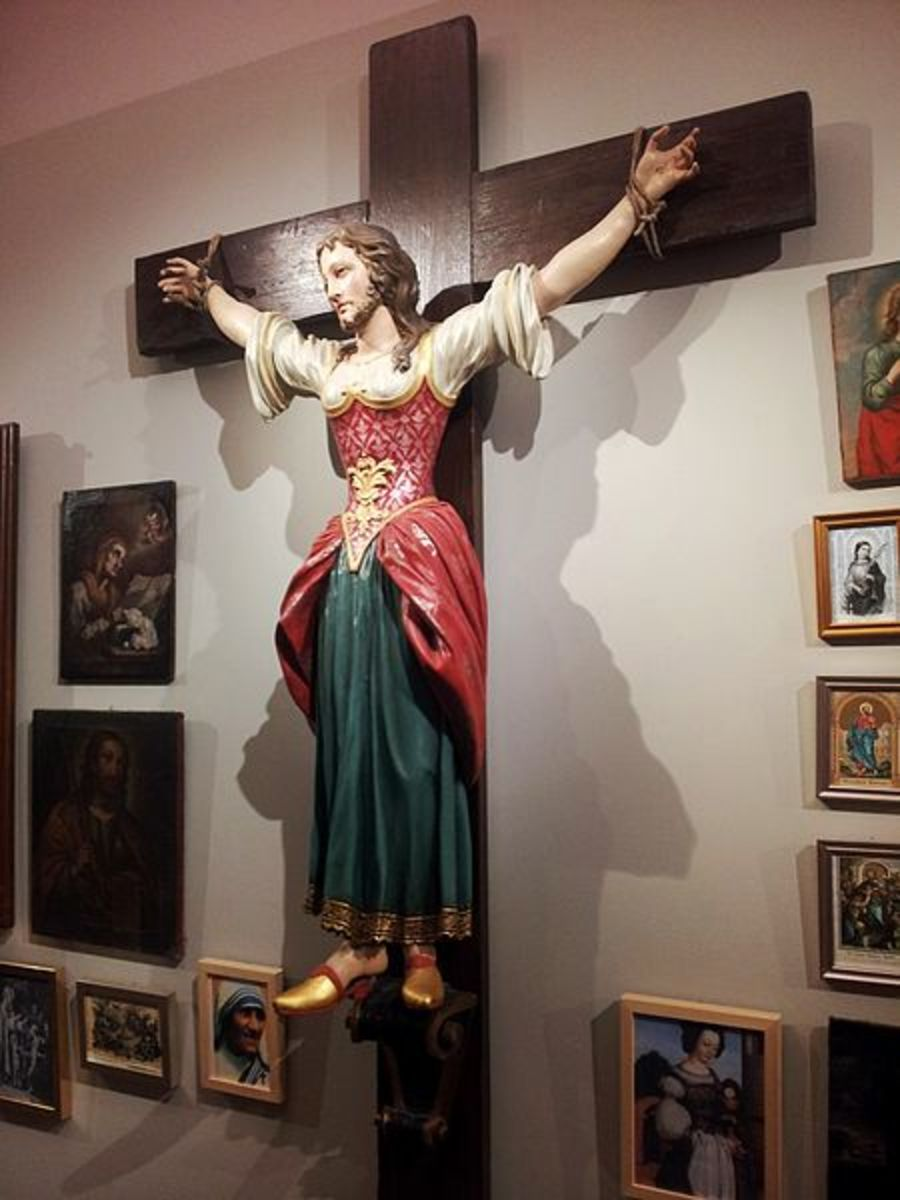 Saint Wilgefortis aka bearded lady Anne Hope