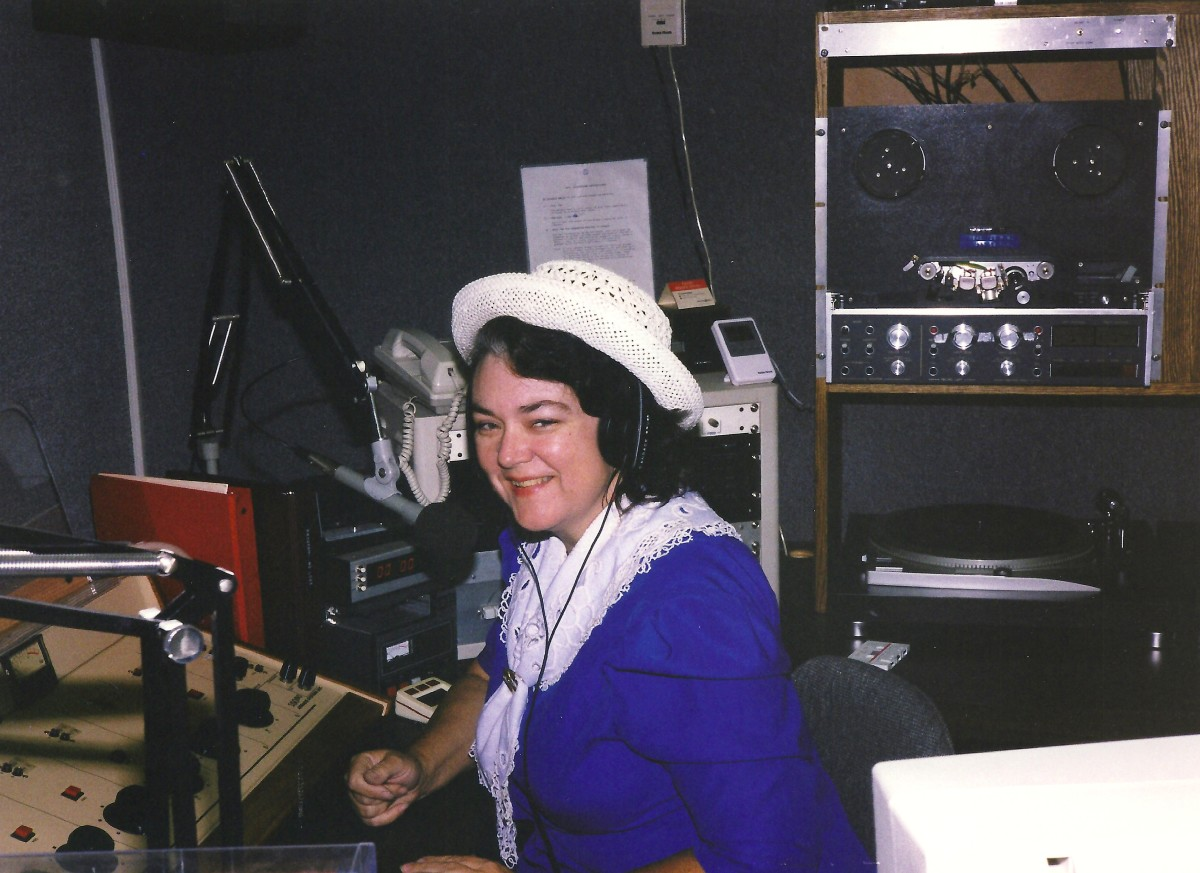 Me working at the radio station.