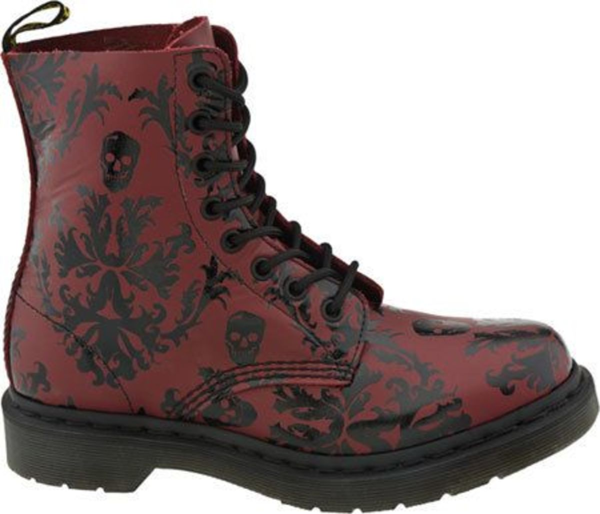 Who says steel toed boots can't be classy? This one has skulls on it!