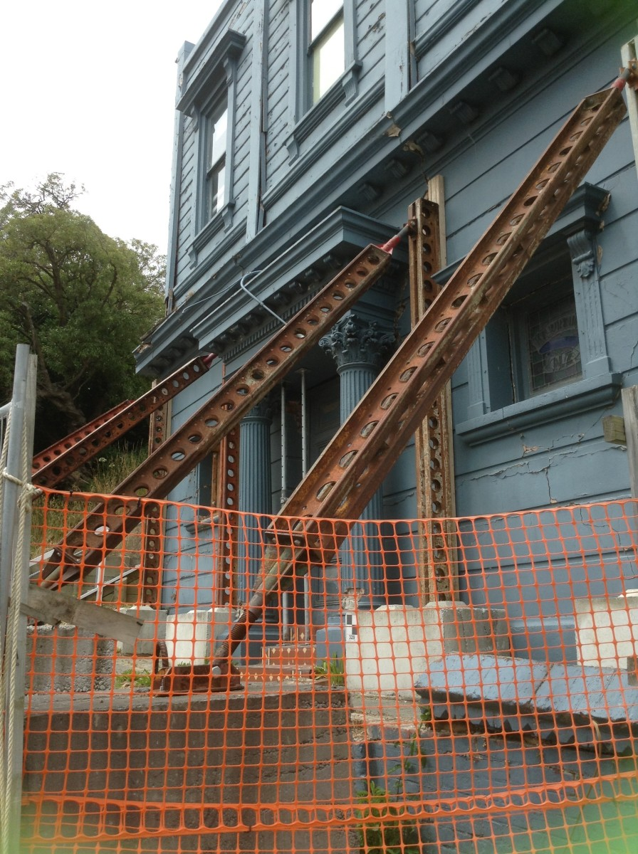 Shored-up with Girders