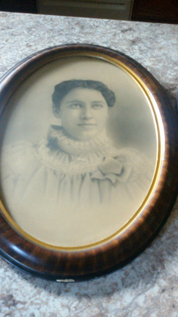 My great-grandma Theresa Treml Drexler.  Picture taken in 1898.