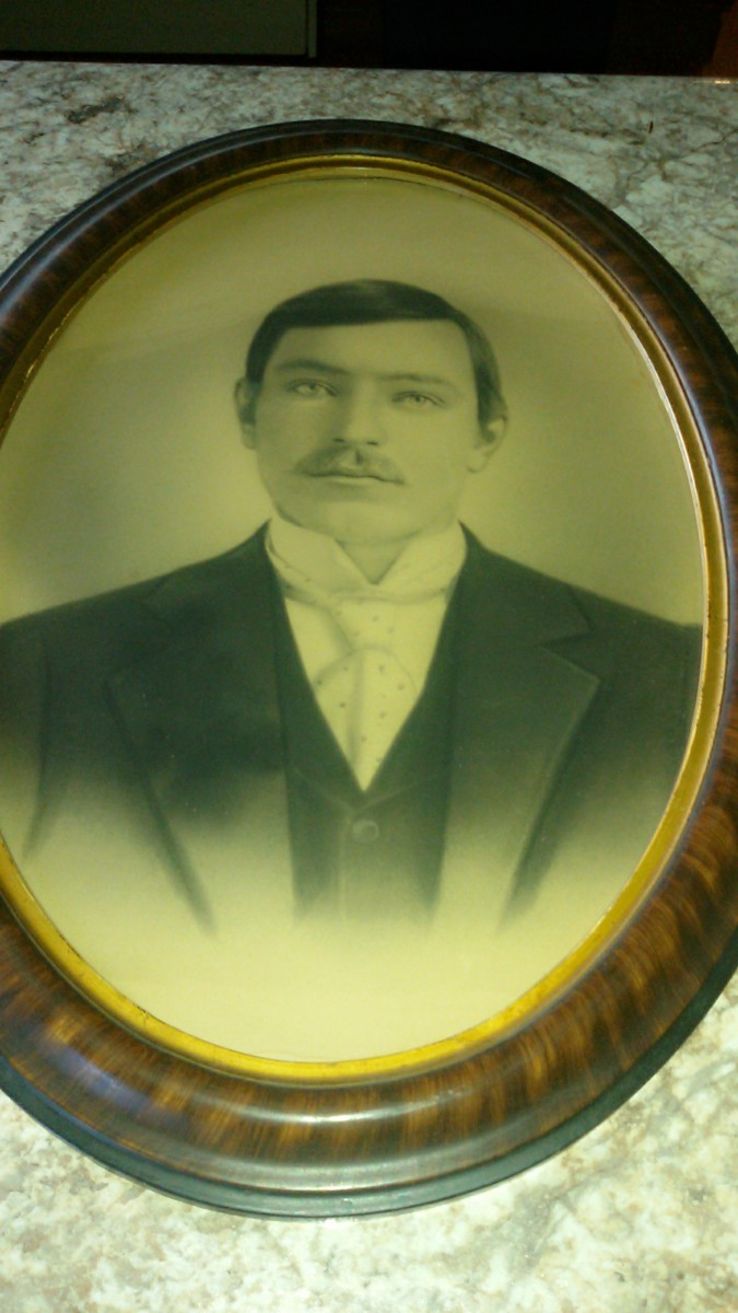 My great-grandpa Frank Xavier Drexler.  Picture taken in 1898.