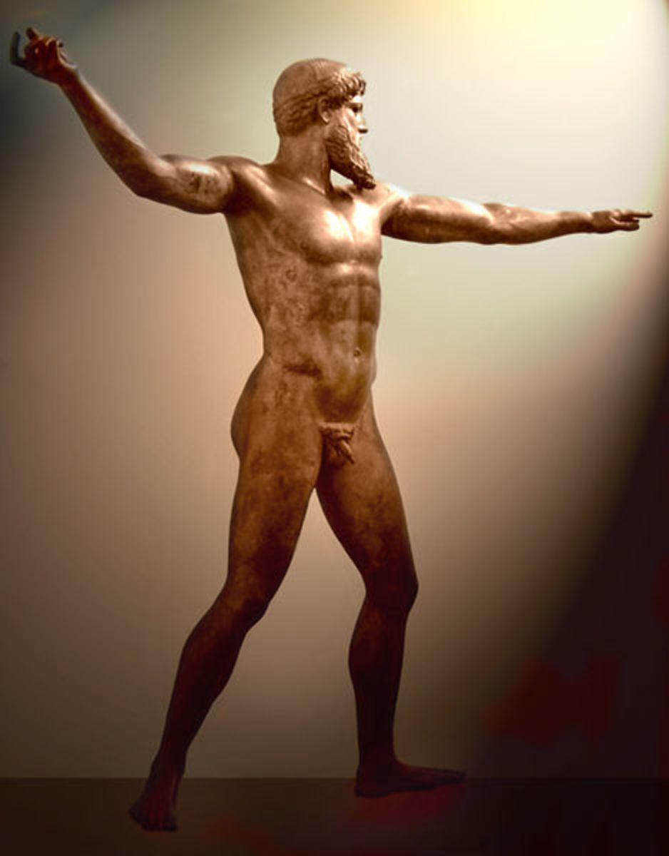 Artemision Bronze (Poseidon or Zeus) c.460BC, National Archaeological Museum, Athens