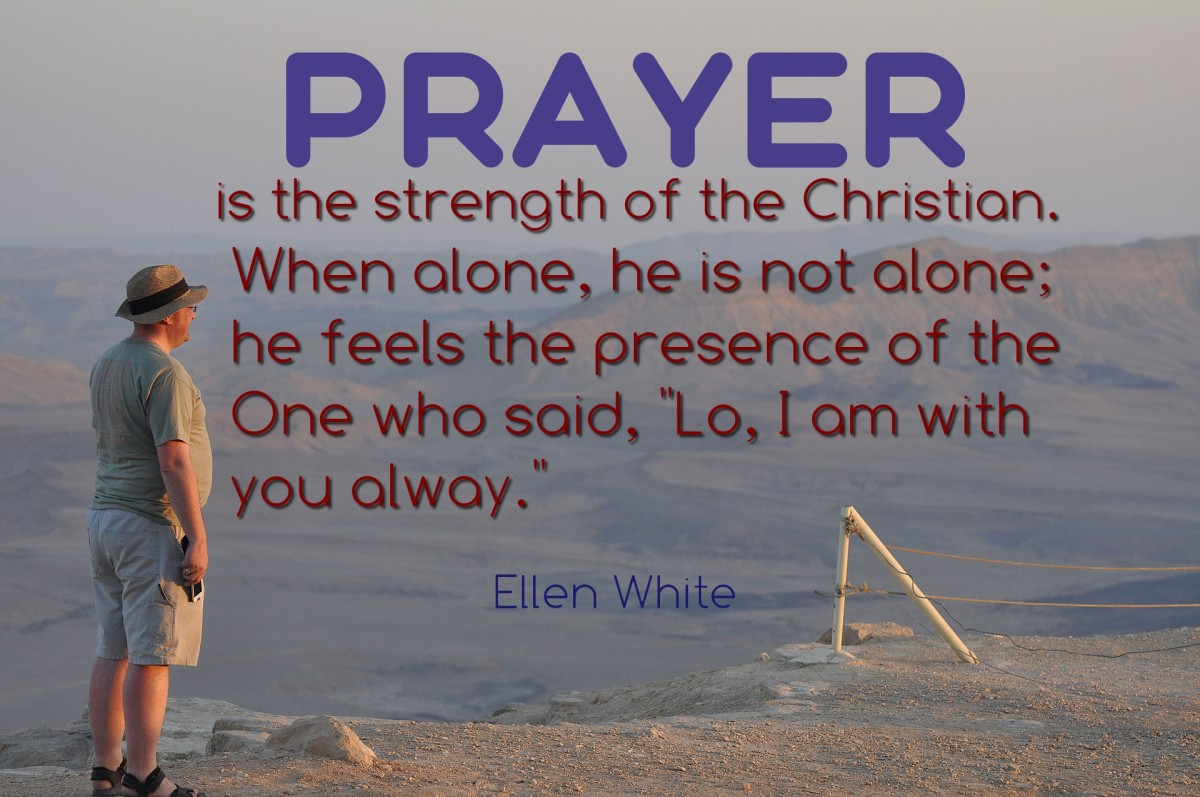 Prayer is the strenght of the Christian. Photo by Neil Ward