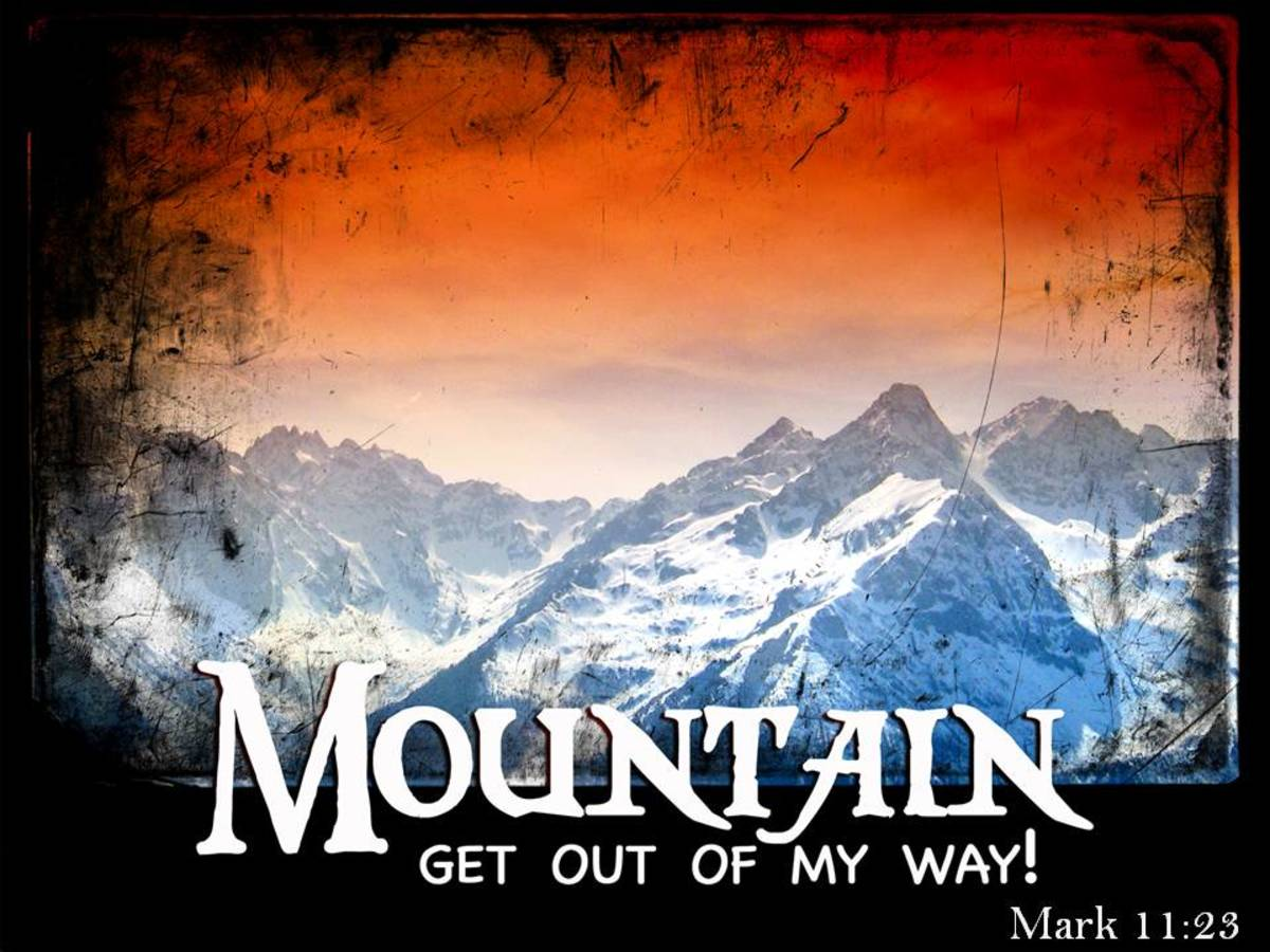 Be authoritative and speak to that mountain.