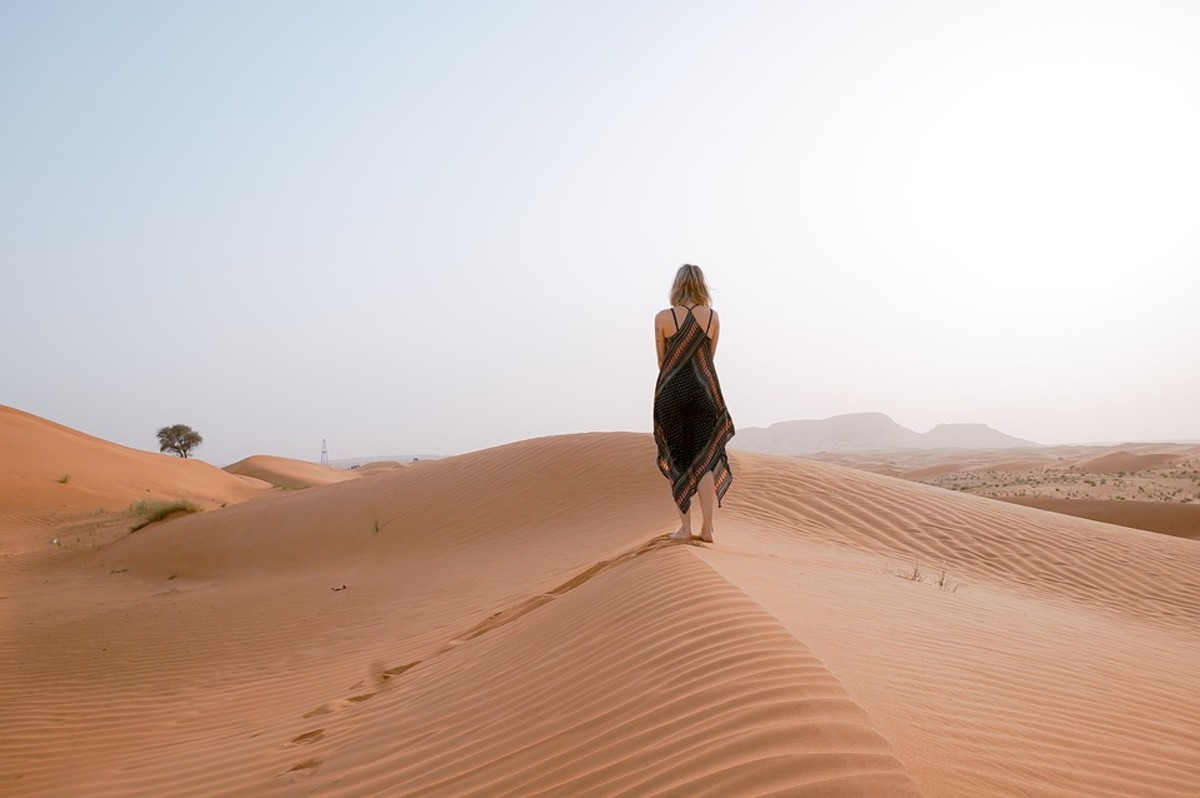 The girl from the sea set out on a journey across the desert.