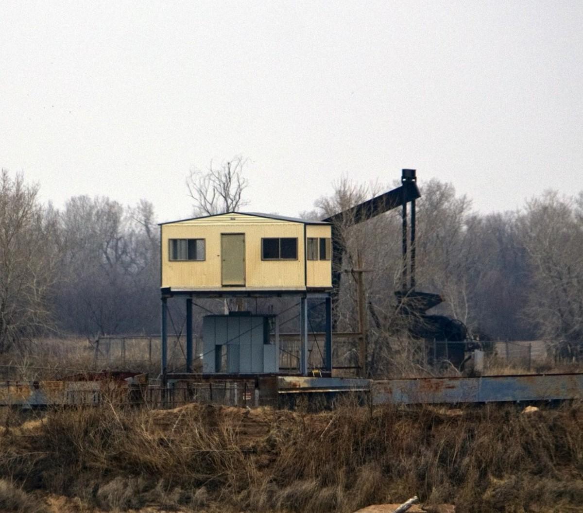 The Livingston's oil rig.