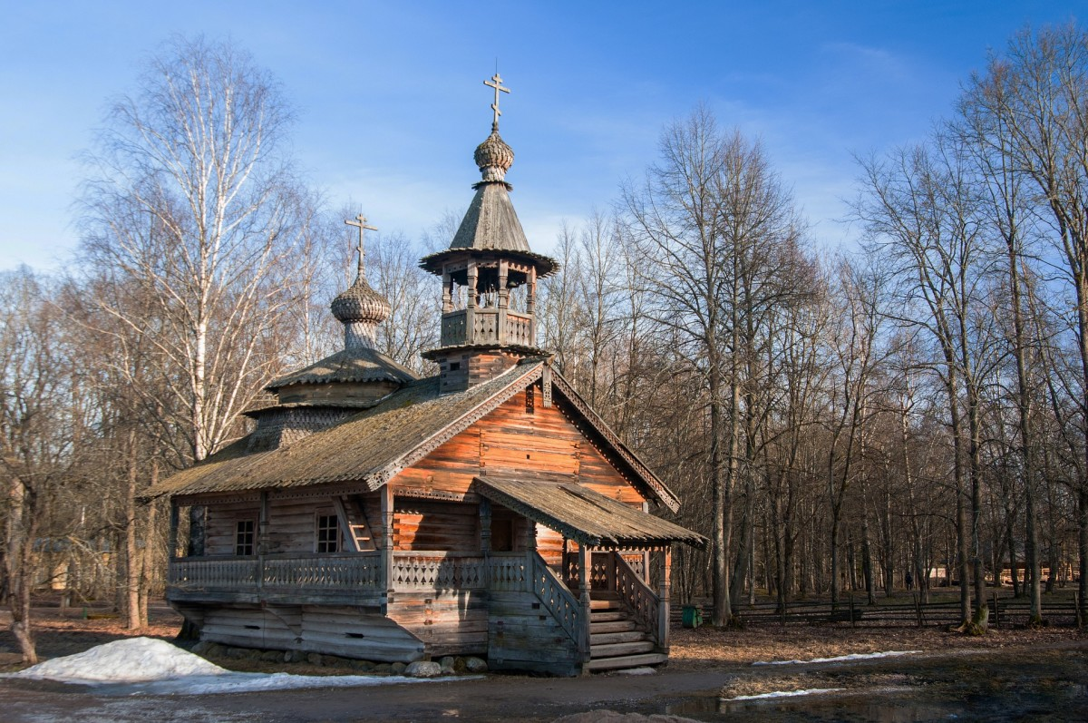 The old wooden church.