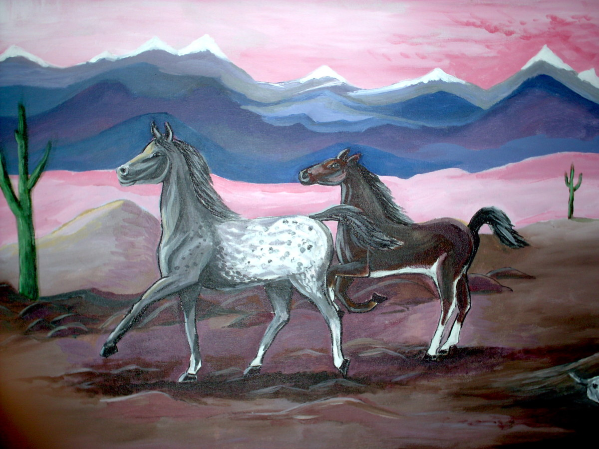 No more wild horses to run across the open plains...