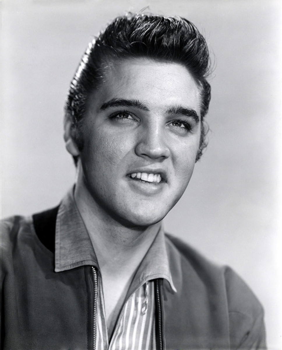 """Elvis Presley, who burst into the entertainment business in the 1950s because he had the """"Black"""" sound. He was influenced by African American music in the churches in Tupelo, Mississippi."""