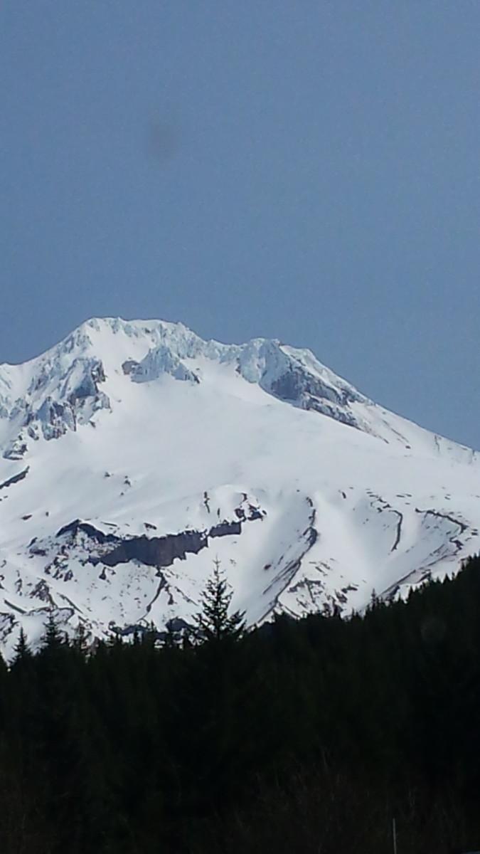 Mount Hood from Timberline Lodge. Taken by Kevin C. Davison 2015.