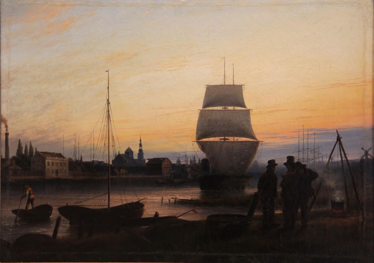 Greifswald Habour by Johann Friedrich Boeck