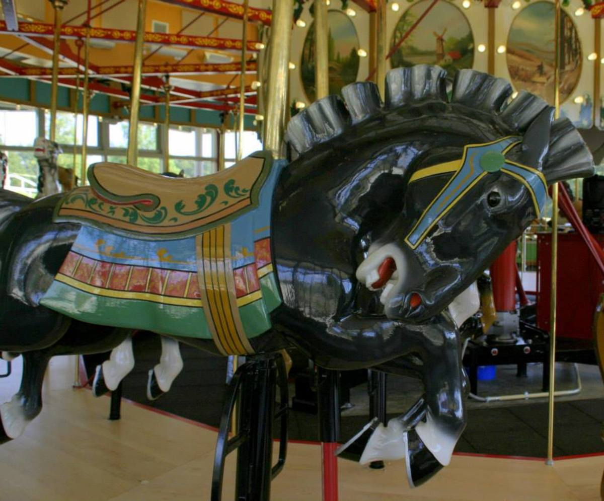 Lori and I were married on this 1917 carousel.