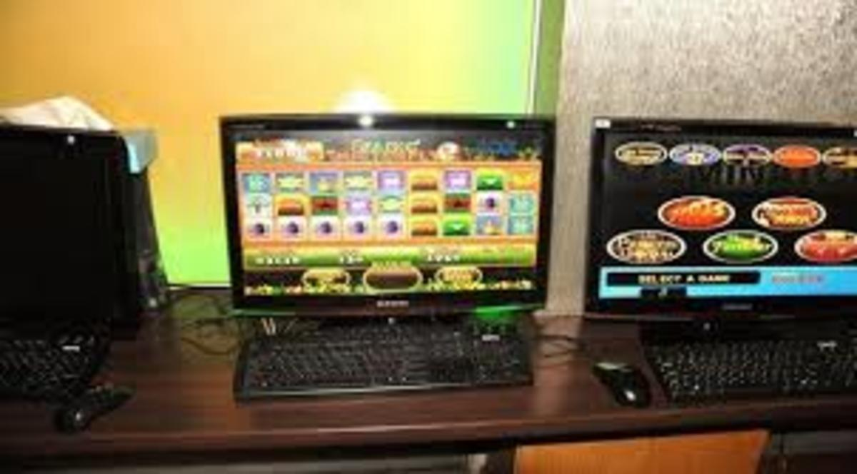 Internet cafes also offer casino style gaming