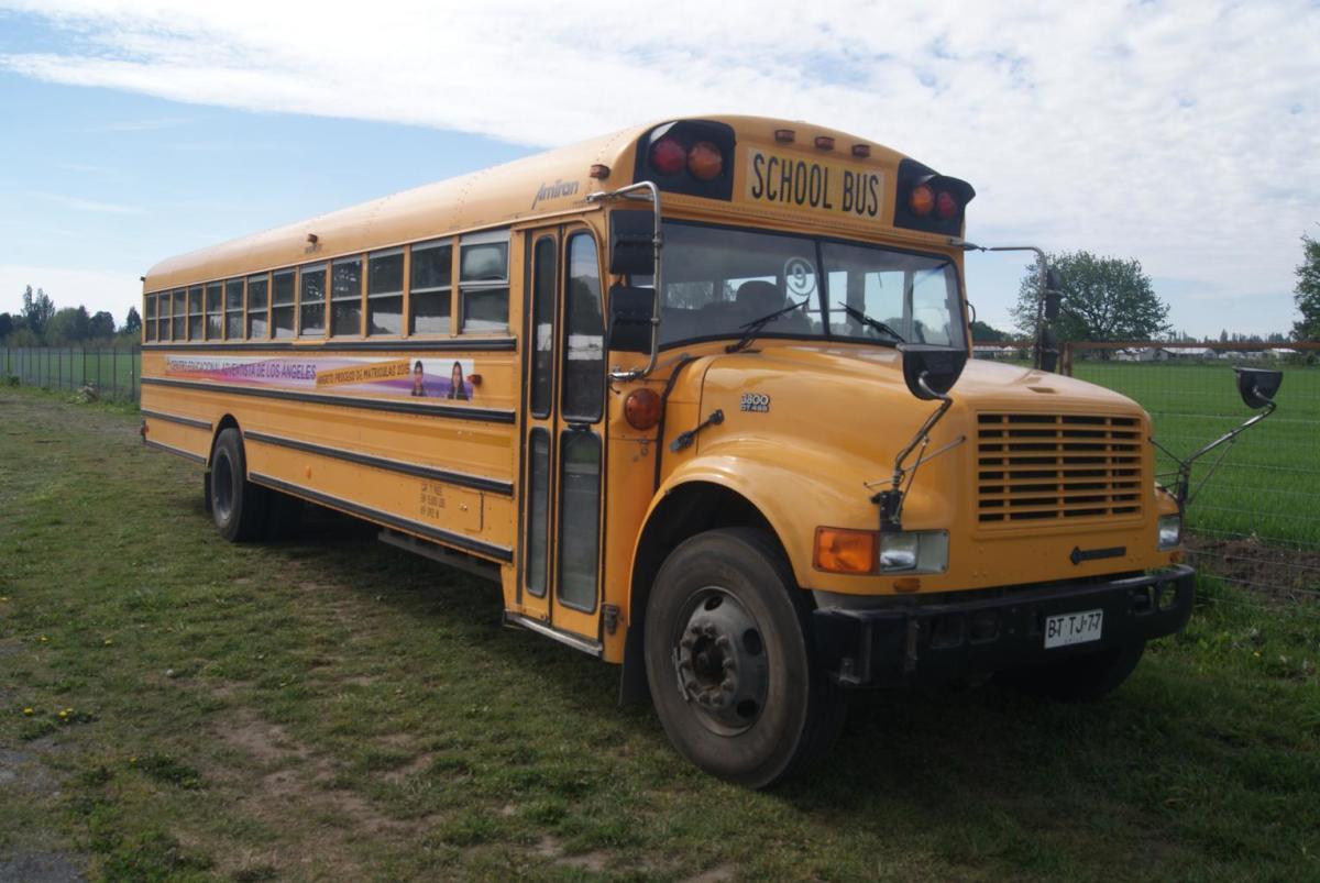 Modern school bus.