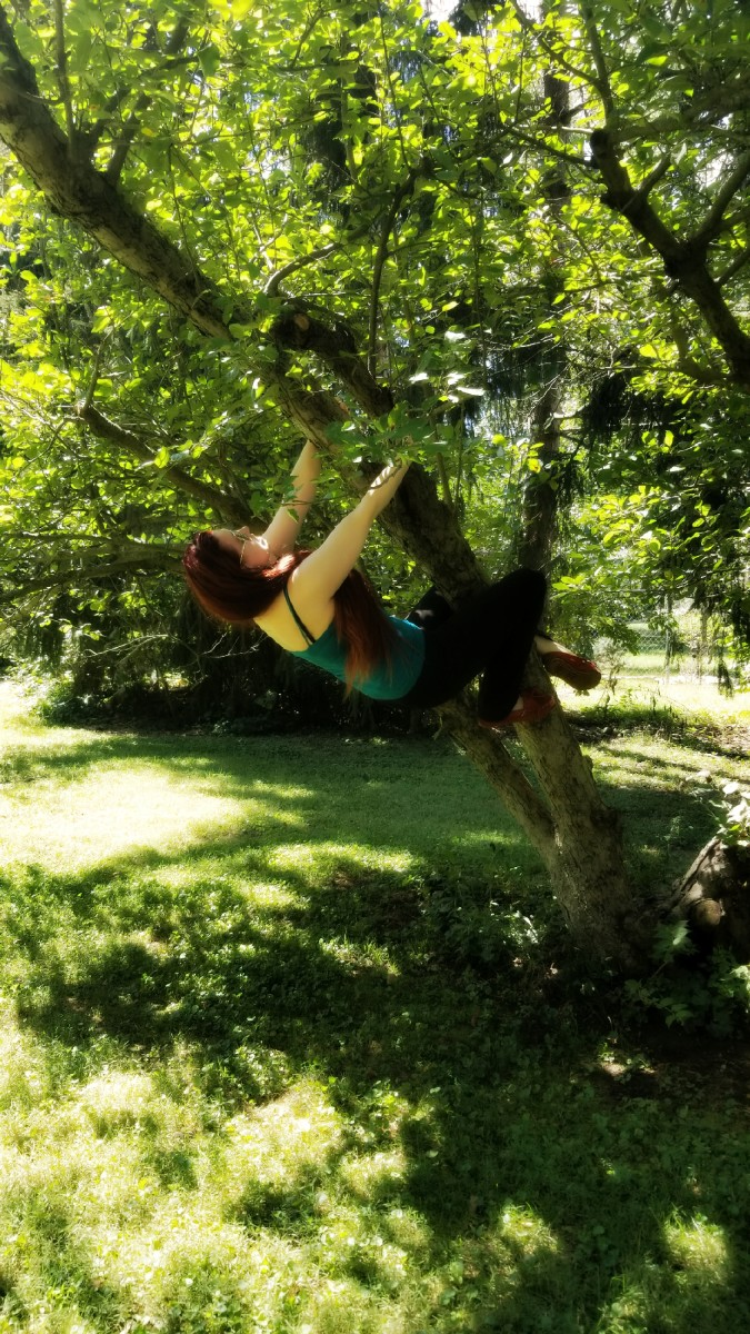 You're never too old to climb a tree.