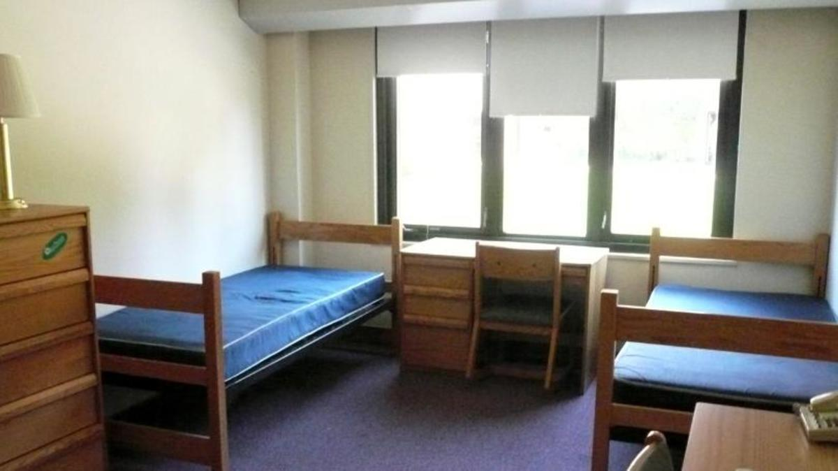 Hospital rooms often look a lot like college dorms