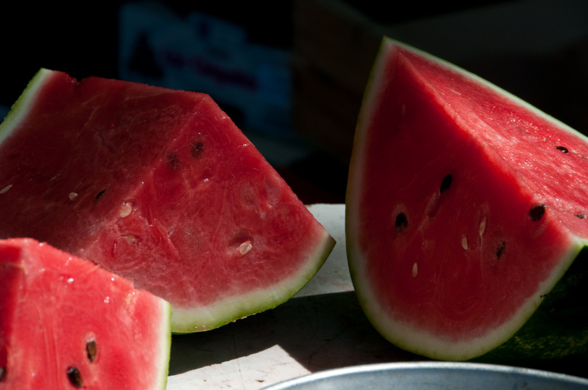 Beautiful wedges of ripe watermelon