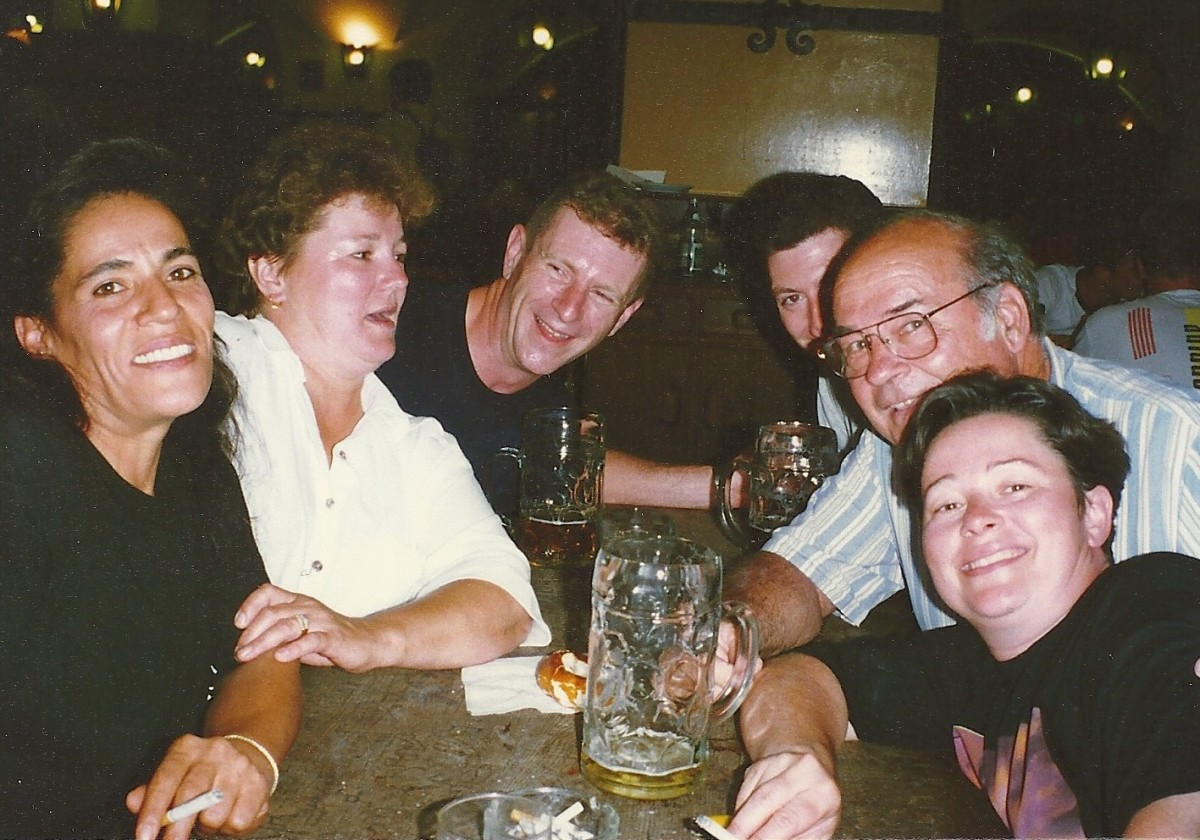 The famous Hofbrauhaus. I arranged for rooms within walking distance, so no one had to drive.
